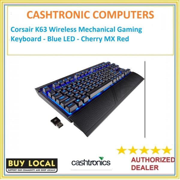 Corsair K63 Wireless Mechanical Gaming Keyboard - Blue LED - Cherry MX Red Singapore