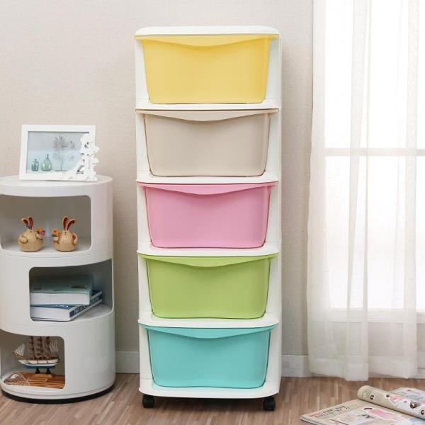 5 tiers drawer cabinet movable storage