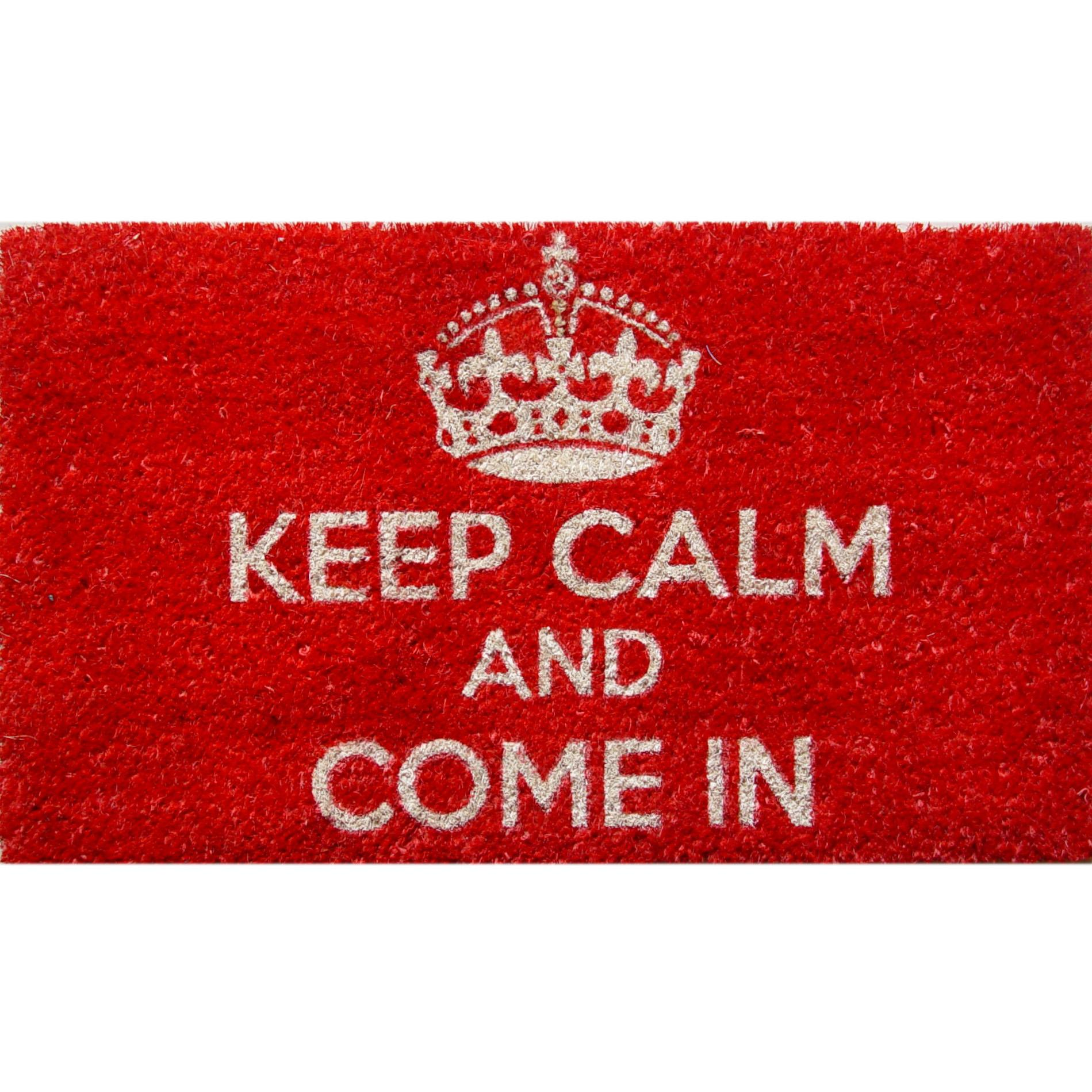 40x60cm Non Slip Door Mat Carpet Floor Rug Water Keep Calm PVC Coir Decor Room Living Memory Foam Entrance HDB