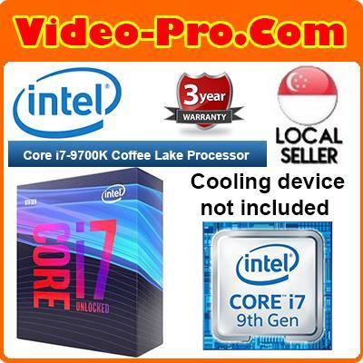 Intel Core i7-9700K 8-Core 3 6GHz (4 9 GHz Turbo) LGA 1151 12MB Cache  BX80684I79700K Unlocked Desktop Processor Intel UHD Graphics 630 (CPU  Cooler Not