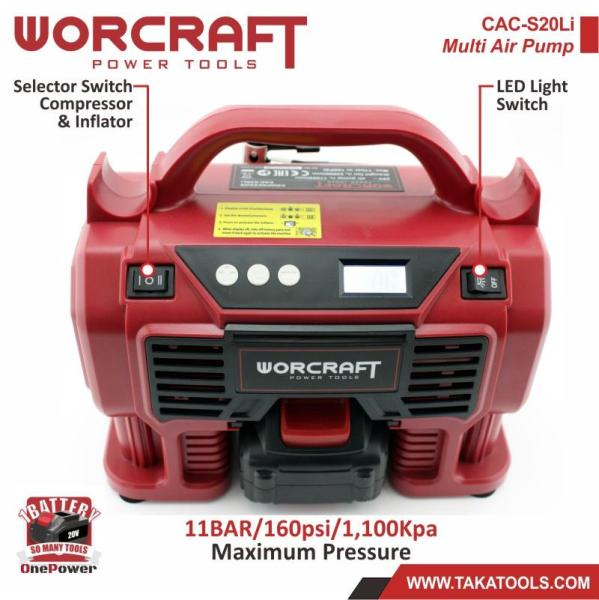 Worcraft OnePower Cordless Multi Air Pump (Tool Only, without battery and charger)