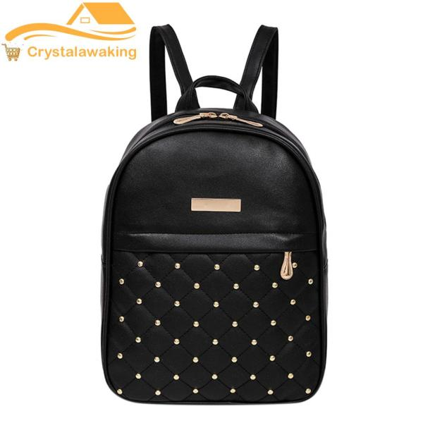 Women Chic Gorgeous PU Leather Backpack(Black) - intl