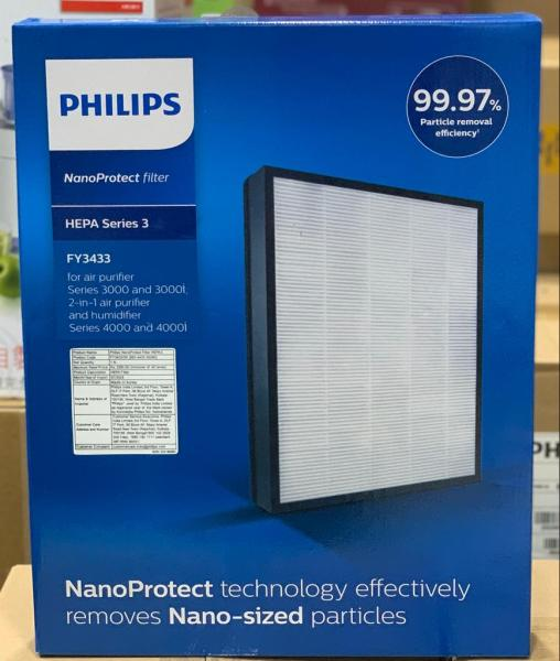 Original Philips NanoProtect HEPA filter FY3433/00 for Philips Air Purifier AC3256,AC3257,AC3259(captures 99.97% 0.3µm particles)(Pre Order- Ships in 15 days) Singapore