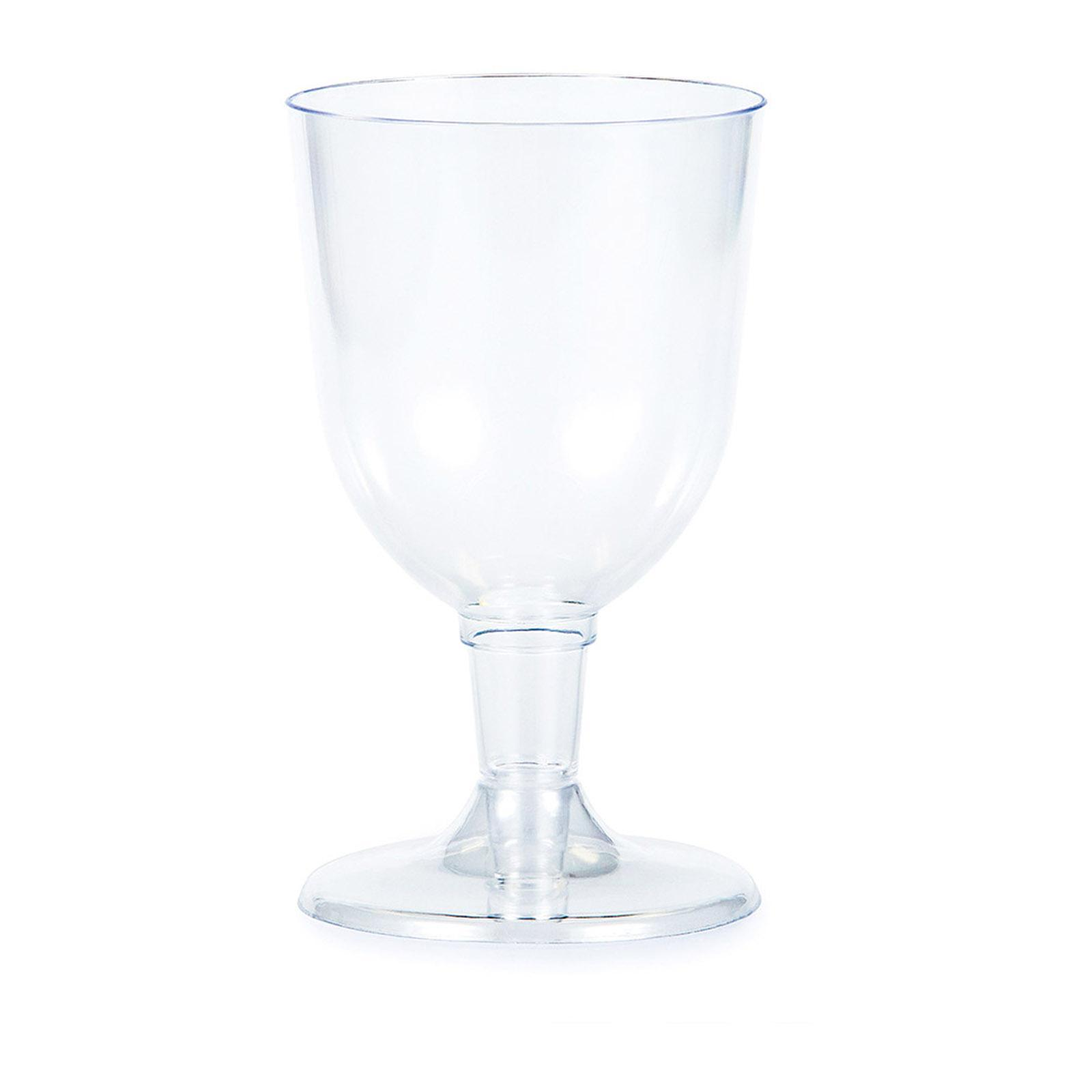 Creative Converting Clear 5 Oz Premium Plastic Wine Glasses 6Pcs-Box