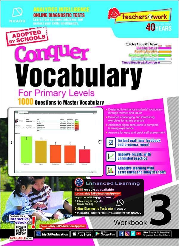 Conquer Vocabulary For Primary Levels Workbook 3 + Nuadu