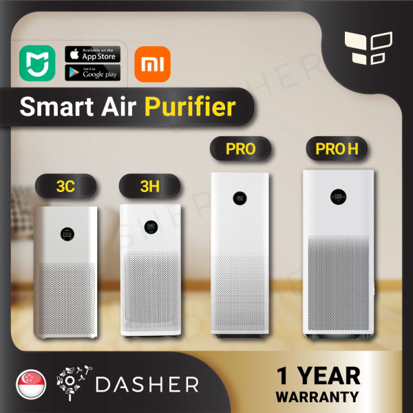 [ENGLISH] Xiaomi Smart Air Purifier 3H & Purifier 3C & Purifier Pro & & Pro H ProH; Filter -Purifier  PRO Purifier 3H Mi Smart Home OLED Screen Display HEPA Filter with Local 2pin Plug Singapore