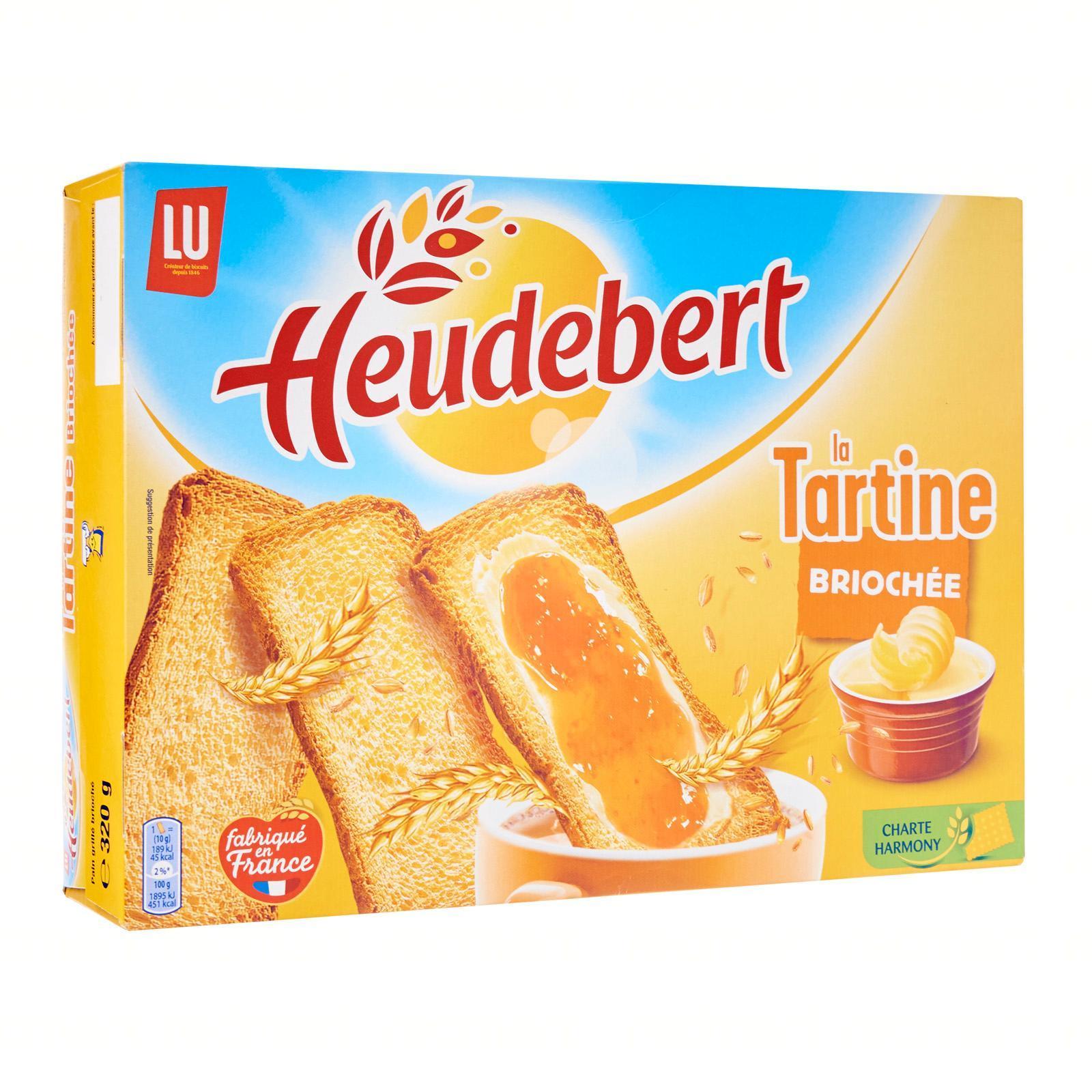 Heudebert Brioche Tartines - 24 Slices - By Le Petit Depot By Redmart.