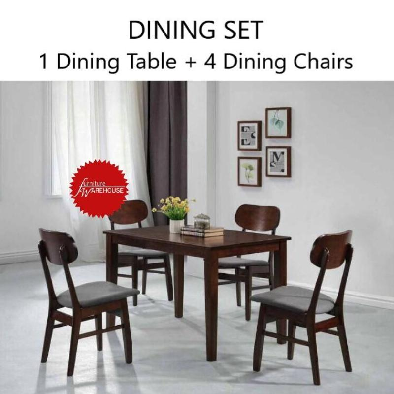 AMELIA 4 SEATER WOODEN DINING SET