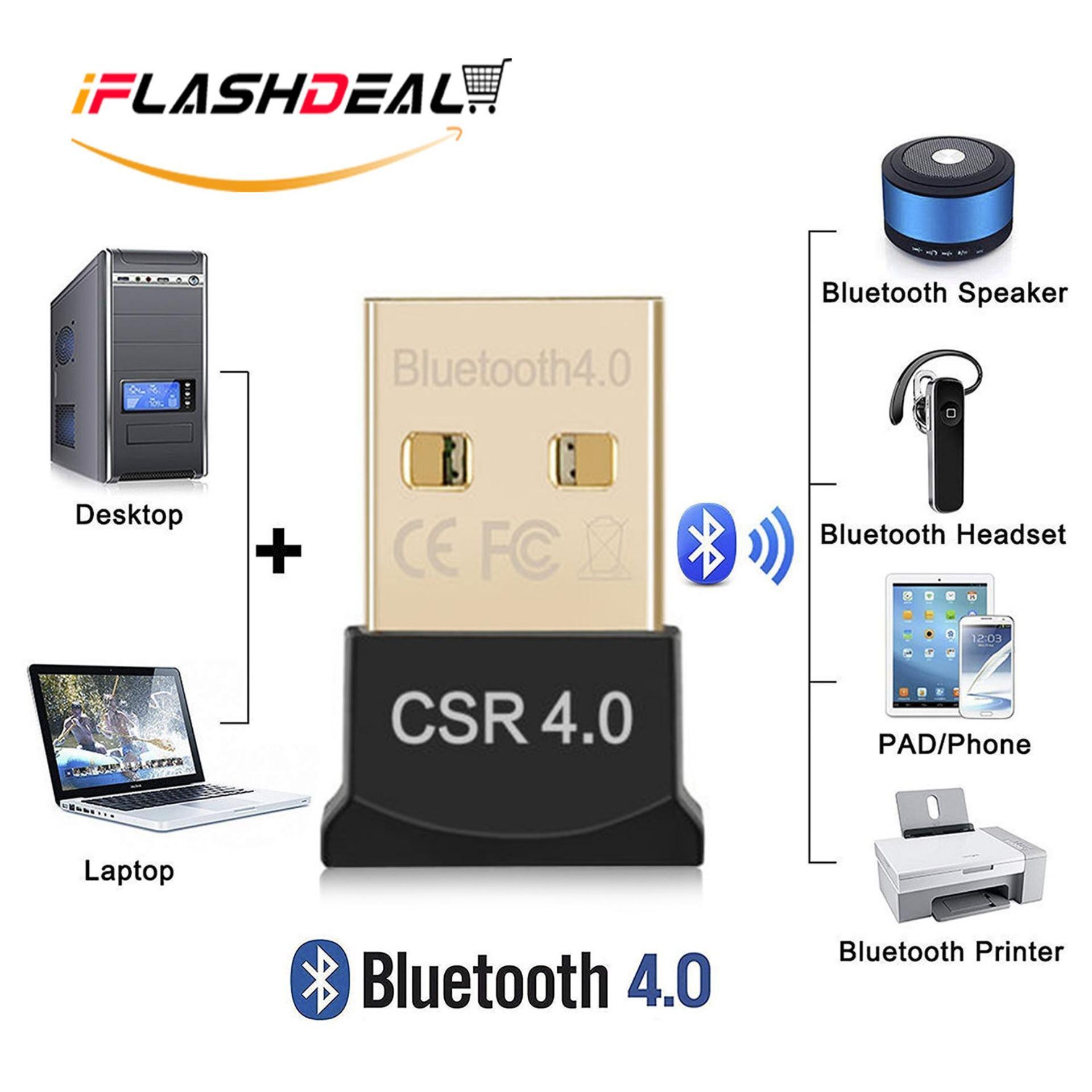 iFlashDeal USB Bluetooth Adapter for PC Wireless Dongle Mini Bluetooth USB Dongle Dual Mode Bluetooth 4.0