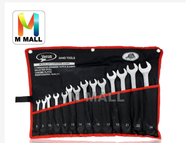 {PREMIUM} VENUS 8-24mm Combination Wrench Spanner Set Tools Set 14 PCS