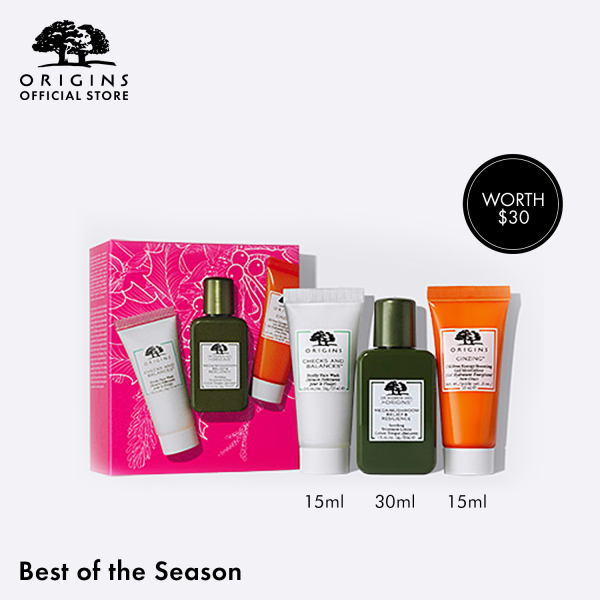 Buy [Holiday Special] Origins - 3-pcs Skincare Set (worth $30) with Soothing Treatment Lotion, Frothy Face Wash, Oil-Free Moisturizer •  Best of the Season Gift Set Our Best-Selling Musts to Cleanse, Prep & Hydrate Singapore