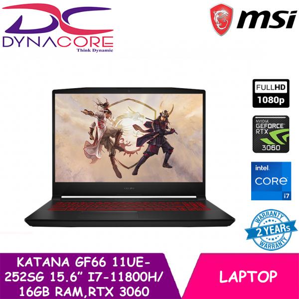 DYNACORE - MSI GF66 11UE-252SG Gaming Laptop (i7-11800H   16GB RAM   RTX 3060   15.6 FHD 144hz   WIN 10 HOME)