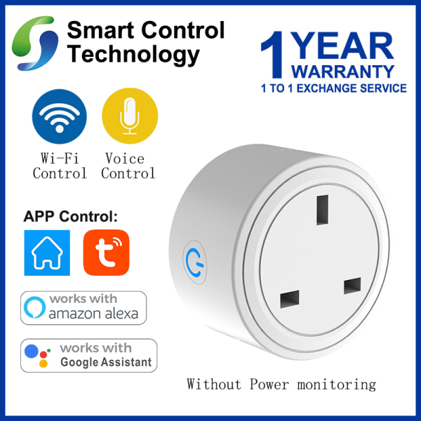 【Singapore Seller】SCT Smart UK Plug 10A Smart Socket WiFi Remote Control with Alexa/Google Home Timing on/off  Smart Electric Mini Socket  Without Power monitoring