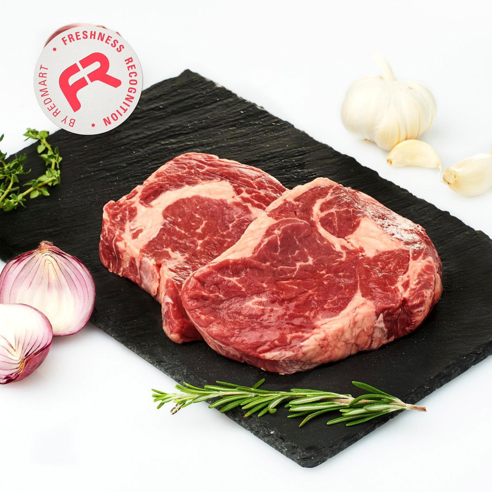 Redmart Grass Fed Angus Ribeye Beef (2 Pcs) - New Zealand By Redmart.