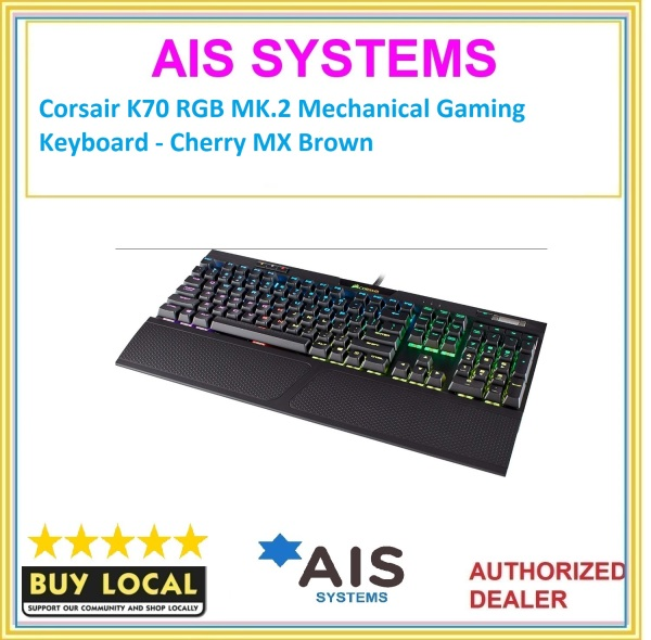 Corsair K70 RGB MK.2 Mechanical Gaming Keyboard - Cherry MX Brown Singapore