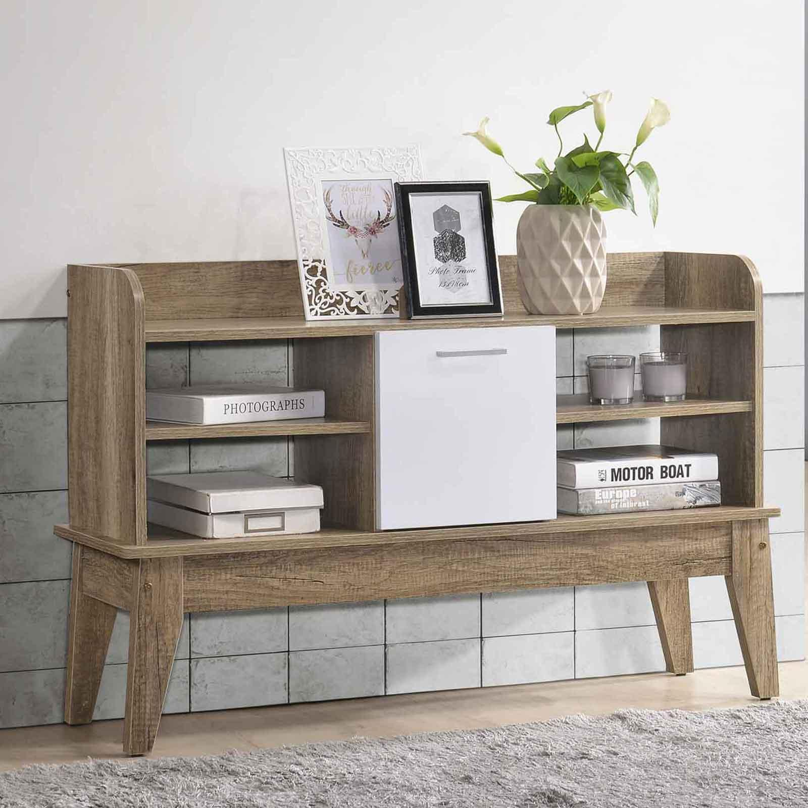 Scandinavian Open shelf Side Board Cabinet Storage Chest of Drawers Console Table ⭐ E-LIVING Furniture
