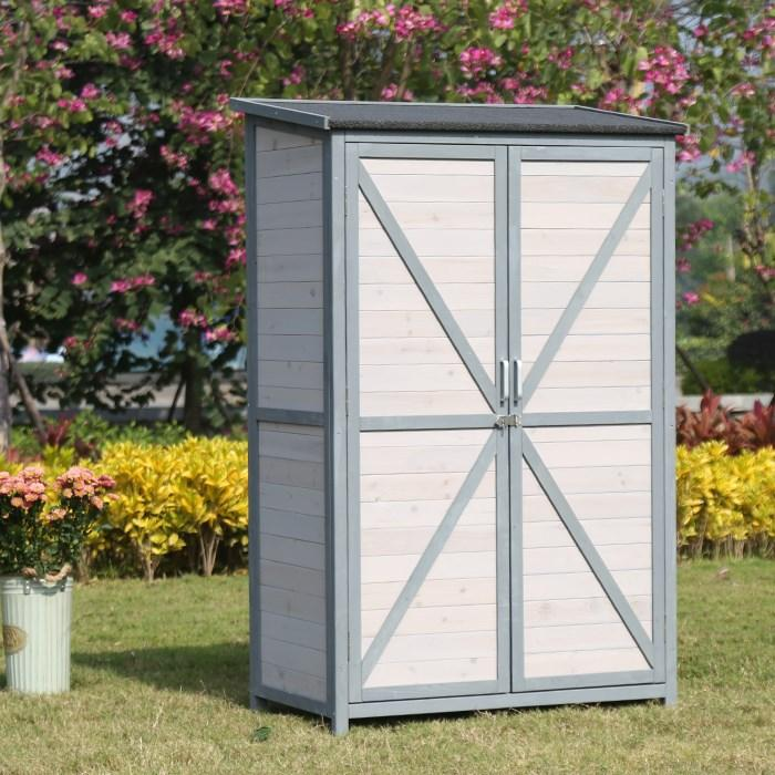 Outdoor Floor Cabinet Locker Garden Sun-resistant Waterproof Courtyard Balcony Storage Shelf Tool Cabinet out of the Window