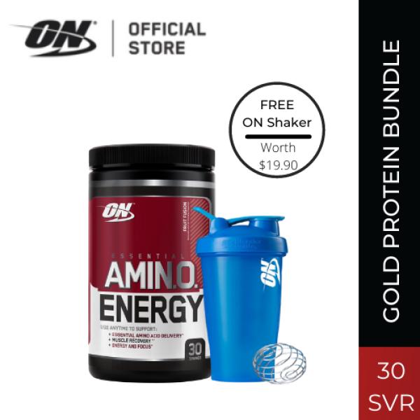 Buy Optimum Nutrition Essential Amino Energy (270g) - Fruit Fusion + Shaker 20z Bundle Singapore