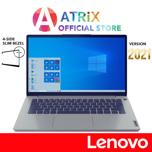 【Same Day Delivery】Lenovo ideaPad 3i 2021 82H7001CSB | 4-Side Slim Bezel | 14inch FHD IPS 300nits |  i5-1135G7 | 8GB RAM | 512GB SSD | Win10 home | only 1.5Kg | 2 Years Lenovo onsite warranty