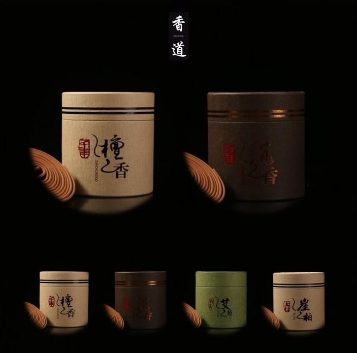 1 case of 48pcs Sandalwood 檀香 with 1 case of Agarwood 沉香 / Artemisia 艾草 /  Ya Bai 崖柏 Pure Sandalwood Incense Coils Home Fragrance 4 hours with free holder