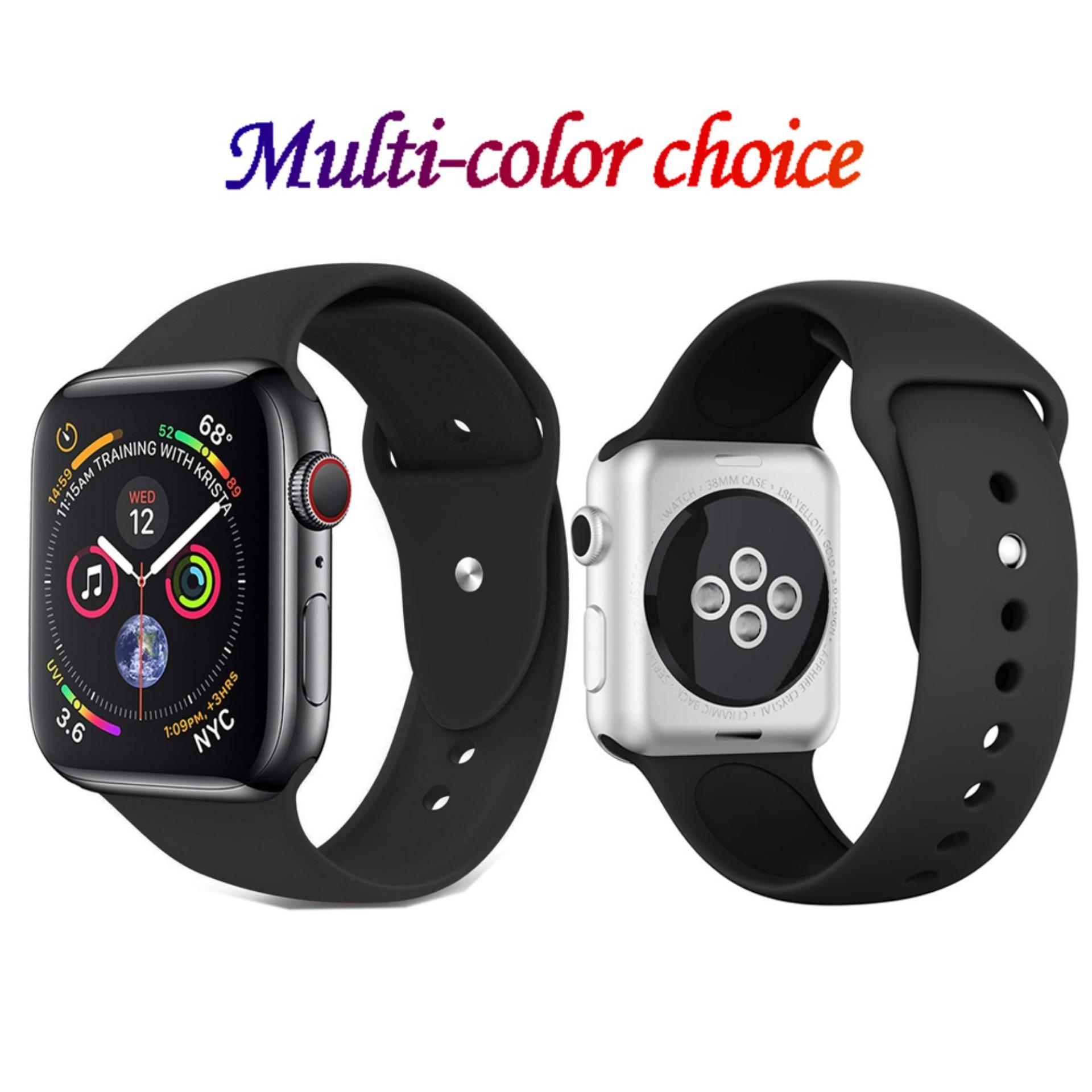 97e68b38849552 Jansin Soft Silicone Sport Band For Apple Watch 40mm Series 4 Replacement Sport  Bracelet Wrist Strap