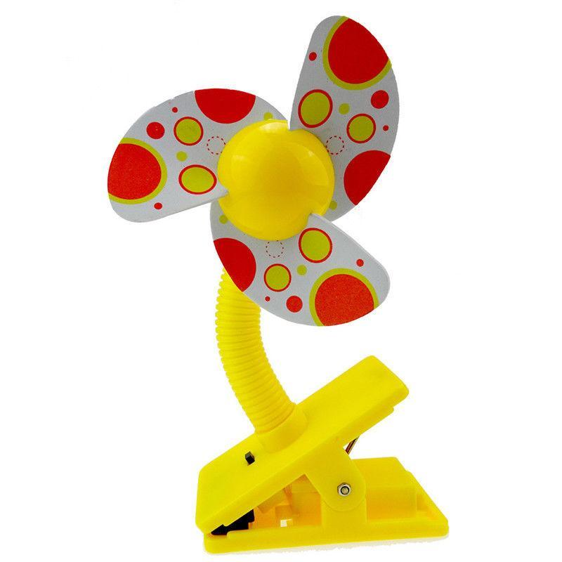 Baby Stroller Clip On Fan (Yellow) Singapore