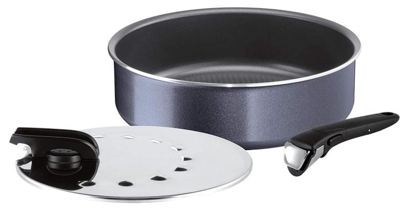 Tefal Ingenio Elegance 26 cm Sautepan + 1 handle black + 1 convertible cover 26 cm. All Cooktops except induction (Ready Stock) Singapore