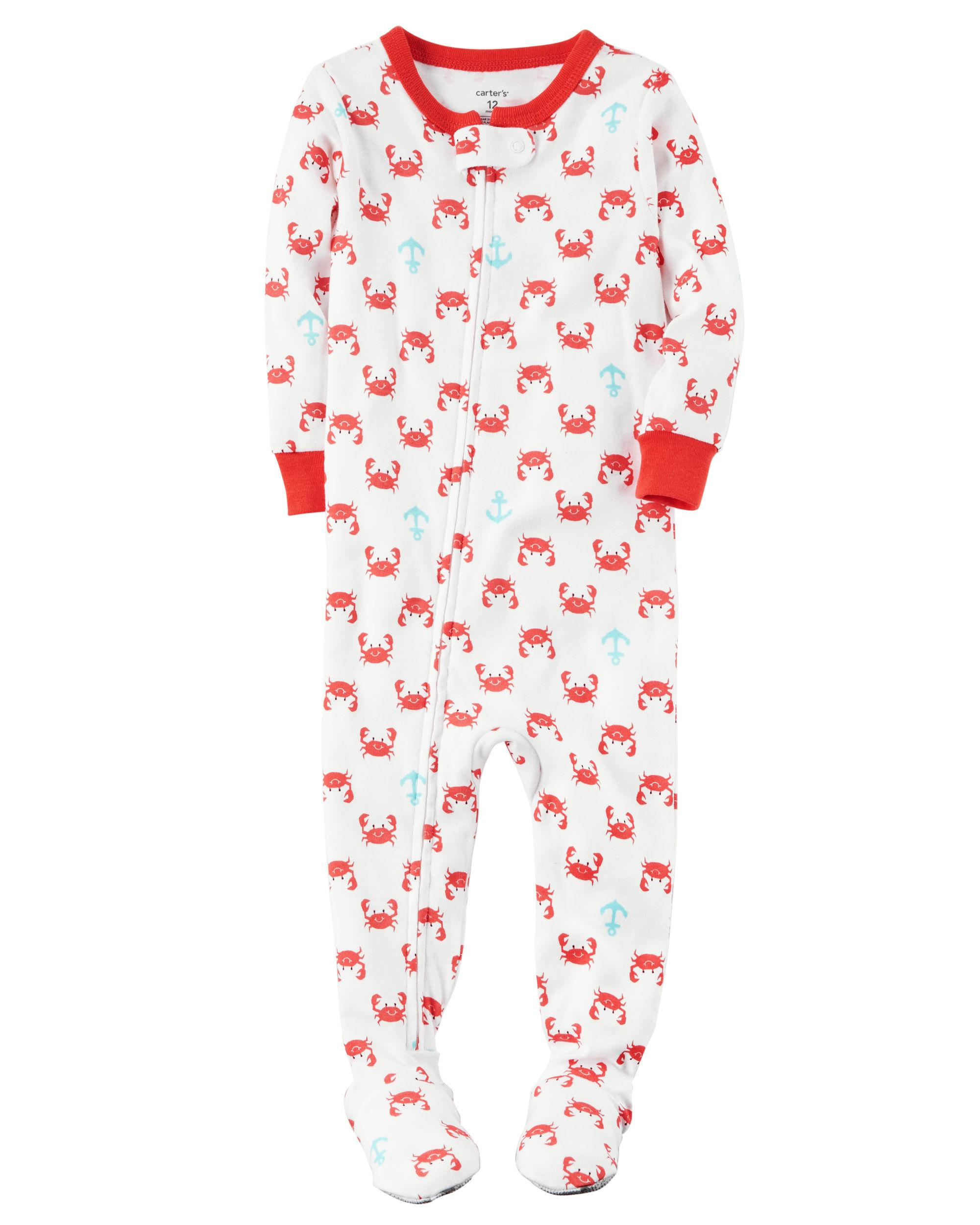Carters 1-Piece Snug Fit Cotton PJs crab 1e597a4a6