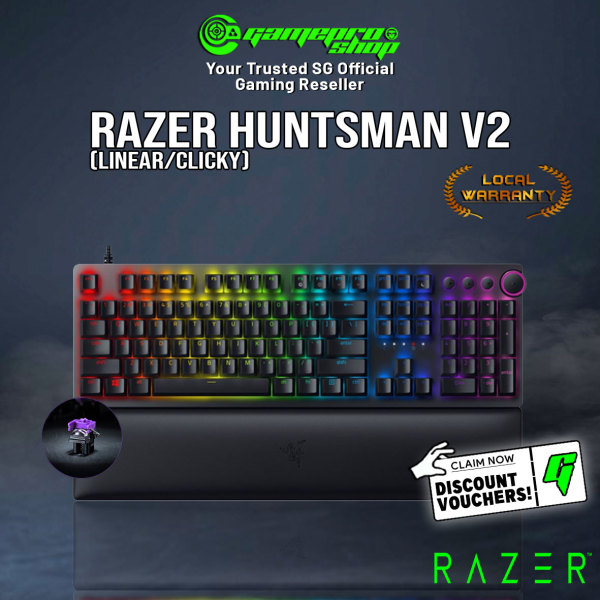 New Razer Huntsman v2 Optical RGB Gaming Keyboard Gen 2 Optical Switch Available in Tactile / Linear (2Y) Singapore