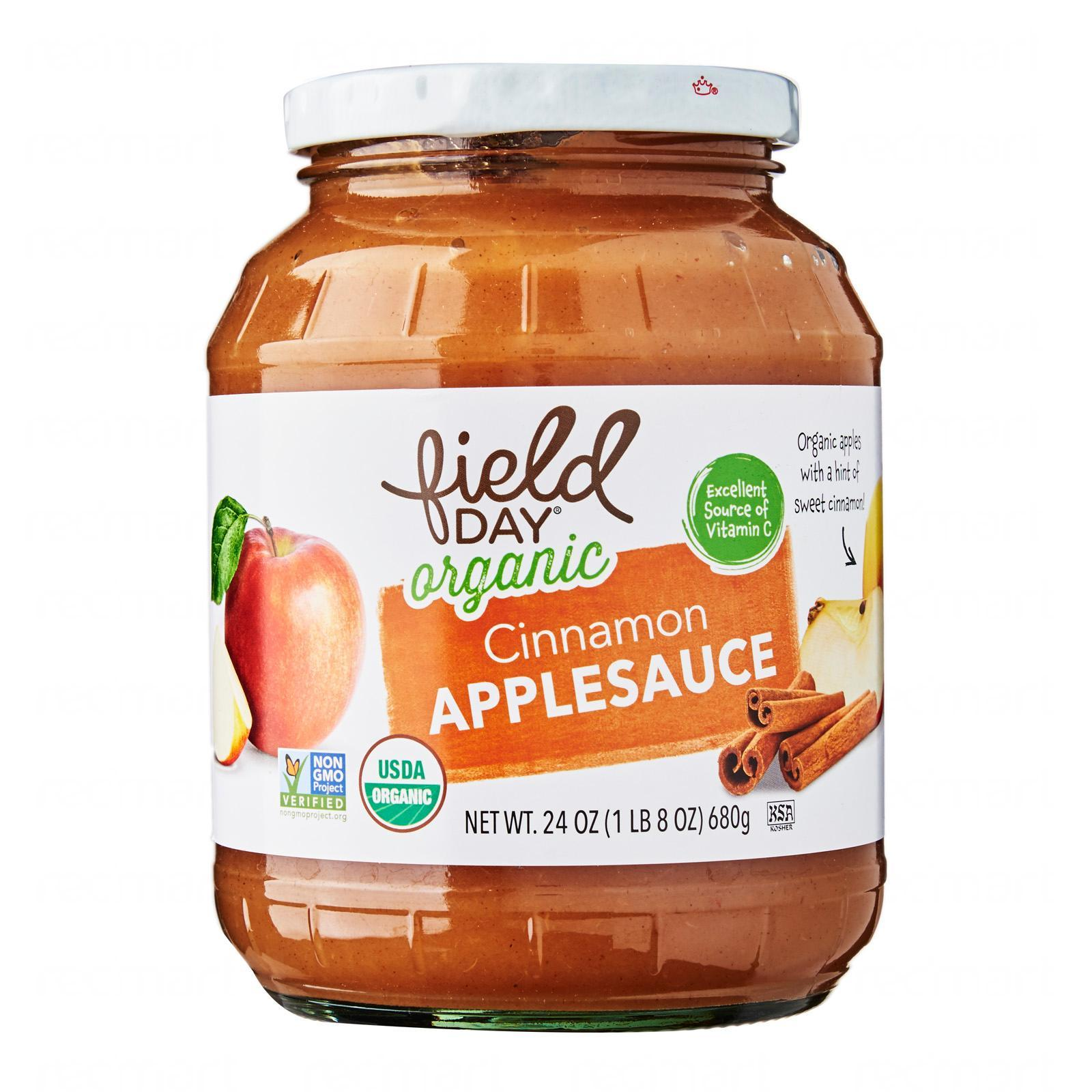 Field Day Organic Cinnamon Applesauce 680 G - By Wholesome Harvest