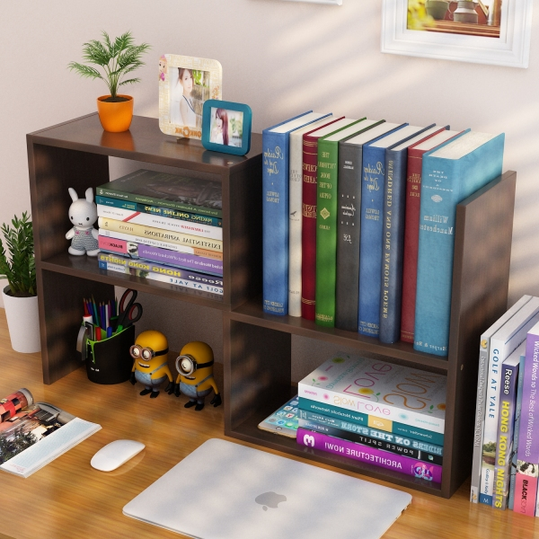 Creative Bookshelf Bookcase Desktop Organiser Flexible Installation Space Saver