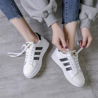 Mùa Xuân Giày Trắng Nữ 2021 Thu Đông Phiên Bản Hàn Quốc Học Sinh Dễ Phối Thể Thao Màu Đỏ Mẫu Bán Chạy Đầu Vỏ Giày Đế Bằng Ins Thủy Triều thumbnail