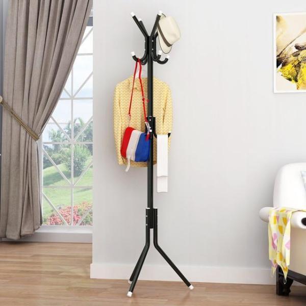 Coat Clothes Hanger Rack ,175cm Big 12 Hooks Hanging Pole - Floor Stand Tree Holder Organizer for Clothes Hat T-shirt Bags Jacket (Multiple colours)