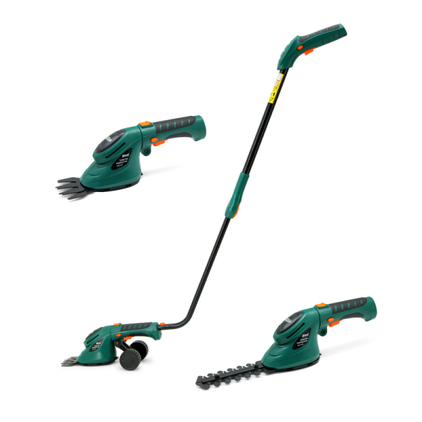 3.6V Cordless 2 in 1 Cordless Grass and Hedge Trimmer Edging and Shrub Shear
