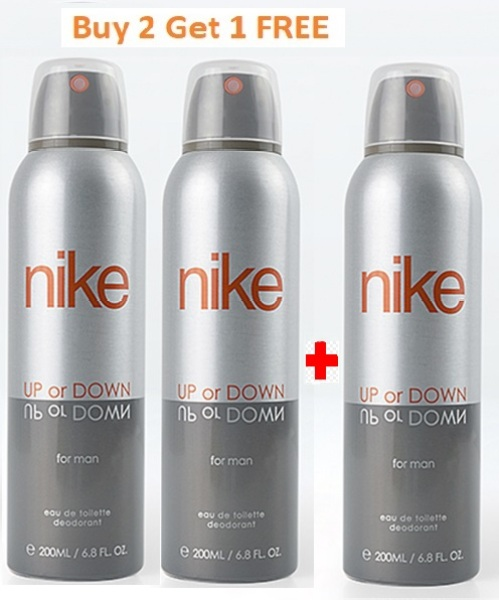 Buy Buy 2 Get 1 FREE - Nike Up Or Down Man edt Deodorant 200 ml Singapore