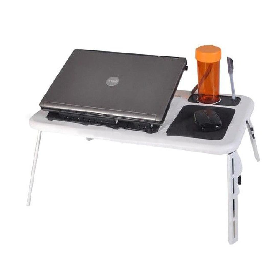 JIJI KIRA Foldable Laptop Table - Laptop Desk / Foldable / Adjustable / Portable / Easy to Keep / Ventilation (SG)