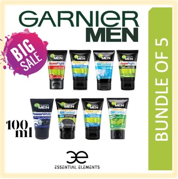 Buy GARNIER MEN [BUNDLE OF 5] CLEANSER/FOAM/FACIAL WASH/FACE WASH/TURBOLIGHT/OIL CONTROL/COOLING/ACNE/MATCHA/ACNO FIGHT/WASABI/POWER WHITE DUO/CHARCOAL Singapore