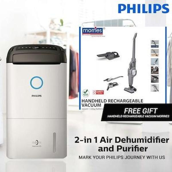 PHILIPS Series 5000 2-in 1 Air Dehumidifier and Purifier DE5205/30 Singapore