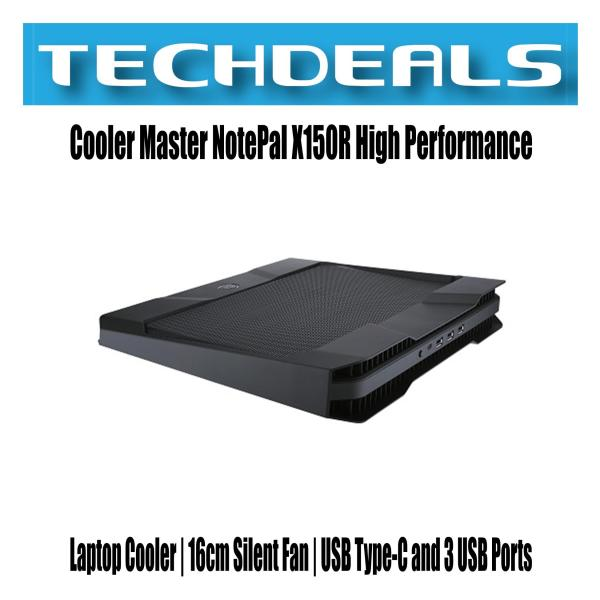 Cooler Master NotePal X150R High Performance Laptop Cooler | 16cm Silent Fan | USB Type-C and 3 USB Ports