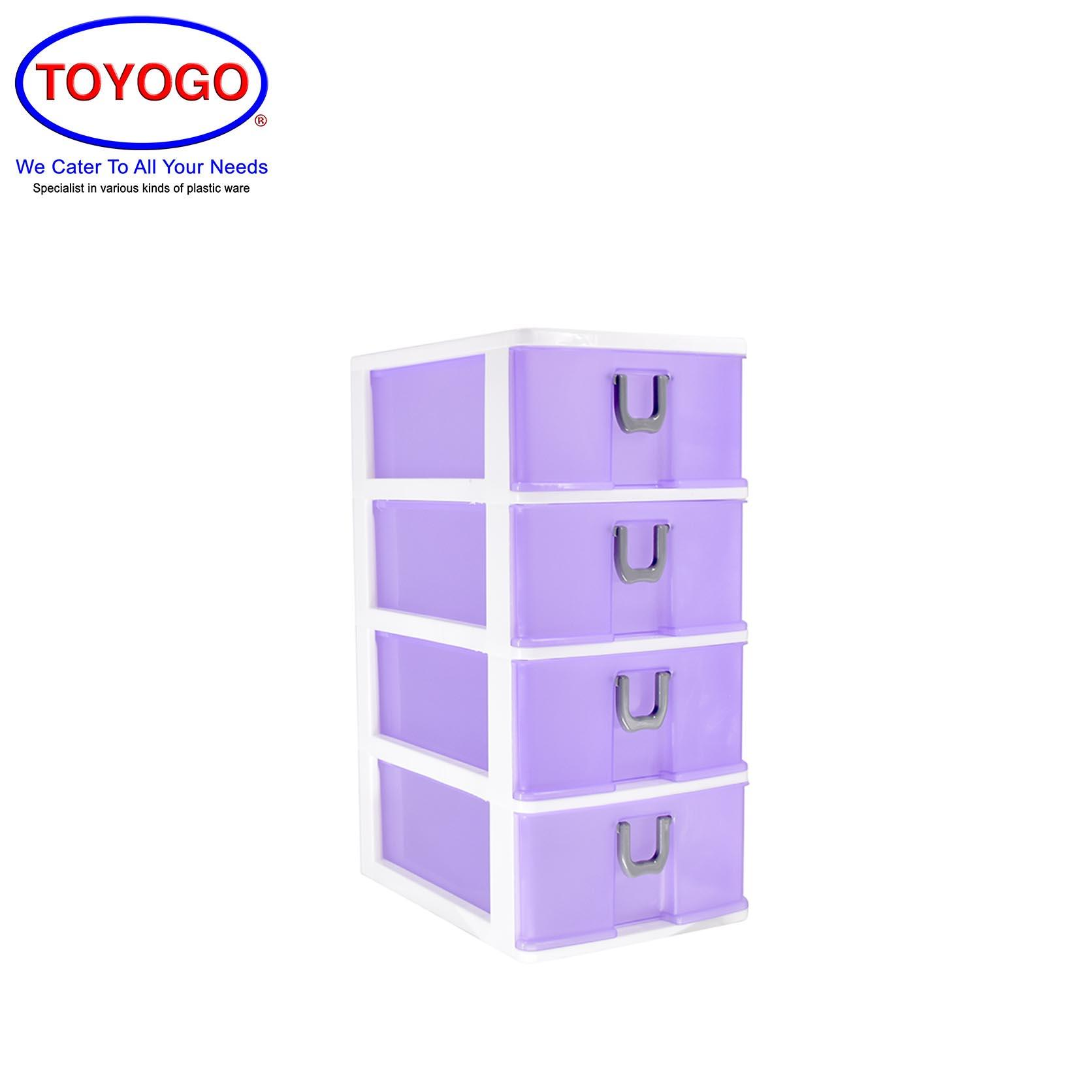 Toyogo Plastic A4 Drawer (4 Tier) (402-4)