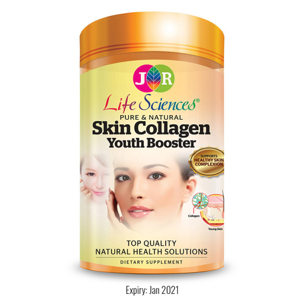 Buy JR Life Sciences Pure & Natural Skin Collagen Youth Booster (120 Veg. Caps): exp: Jan 2021 Singapore