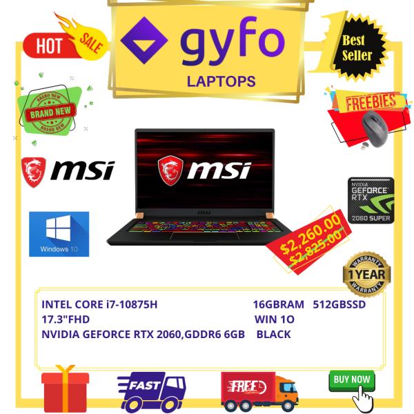 MSI GS75 STEALTH 10SE-620US/INTEL CORE i7-10875H/16GB RAM/512GB SSD/ 17.3FHD/WIN 10/BLACK /1 YR SG MSI WARRANTY