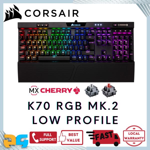 Corsair K70 RGB MK.2 Low Profile Mechanical Gaming Keyboard Cherry MX Red/Speed Singapore