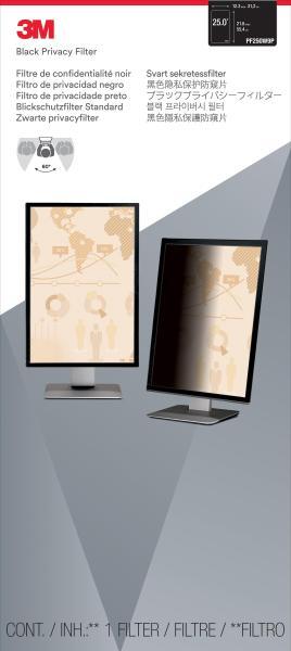 3M™ Black Privacy Filter for 25-inch Widescreen Monitor Portrait (PF250W9P) - 312 mm (W) x 554 mm (H)