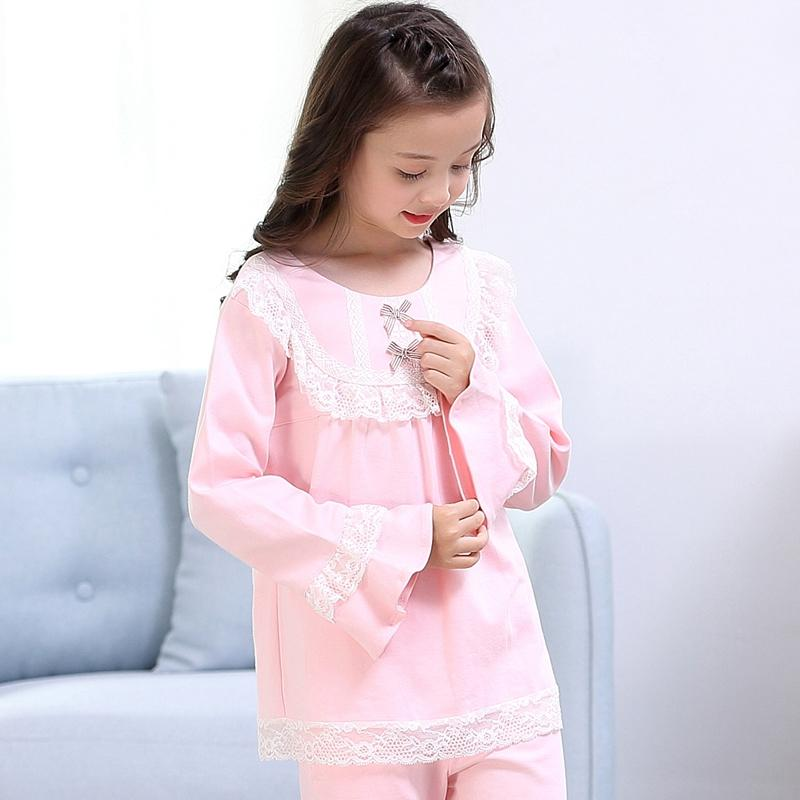 195bbb8ce Children's Pajama Set Spring And Autumn Cartoon Pure Cotton Girl's Nightgown  Big Kid Girl's Baby Princess