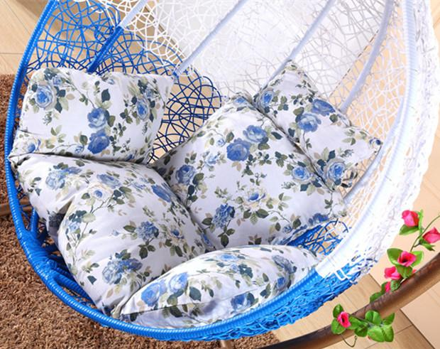 Washable Single Person Birds Nest Basket Cushion Lazy Two-sided with Hanging Chair Cradle Coaster Cane Swing Cushion Thick