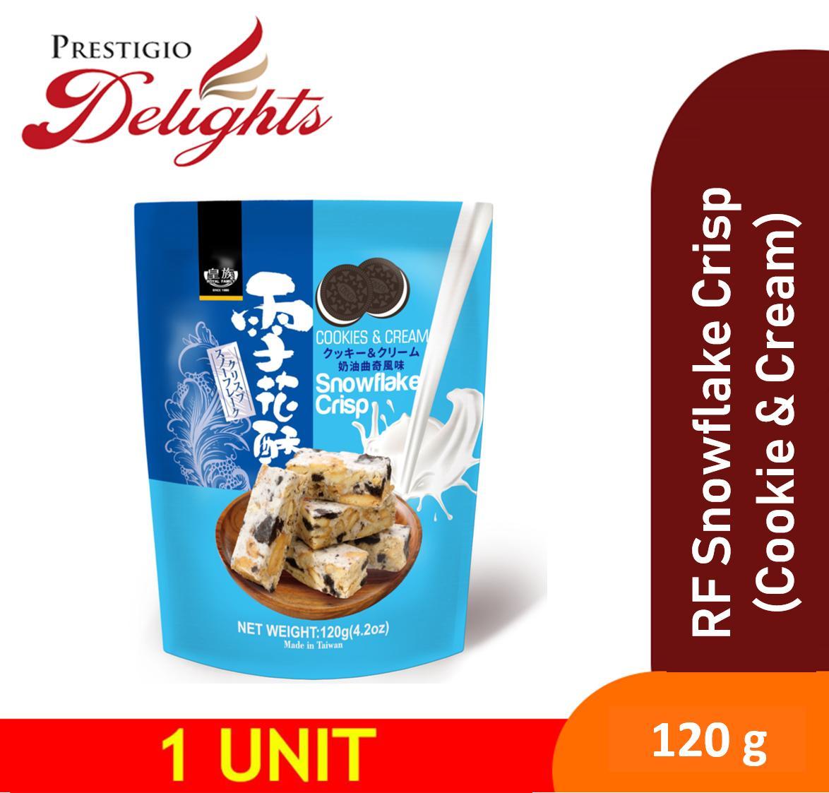 Royal Family Snowflake Crisp (cookie & Cream) 120g 雪花酥-奶油曲奇 By Prestigio Delights.