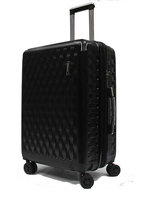 28 inch Large Ricochetting Polycarbonate Expandable Luggage with Anti-theft Zippers Shock Absorption Wheels and Recessed TSA Lock