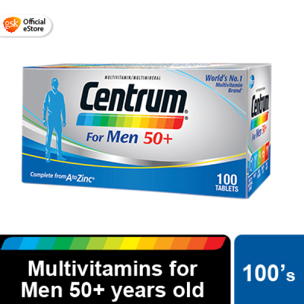 Buy Centrum Multivitamins Multimineral for Men age 50 years and above, 100s Singapore