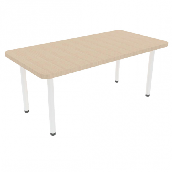 Rectangle Table With Metal Legs